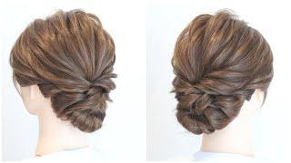[ヘアアレンジ]大人可愛いミディアムヘアのまとめ髪/Hairstyle for Short & Medium/Прически на короткие и средние